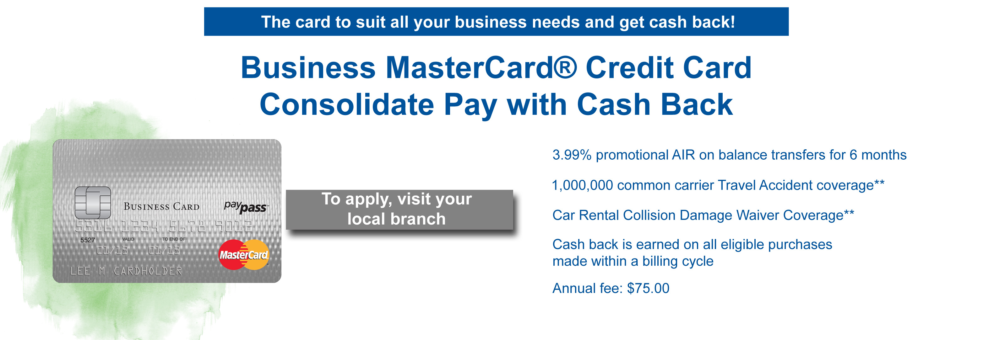 Business cosolidate cash back