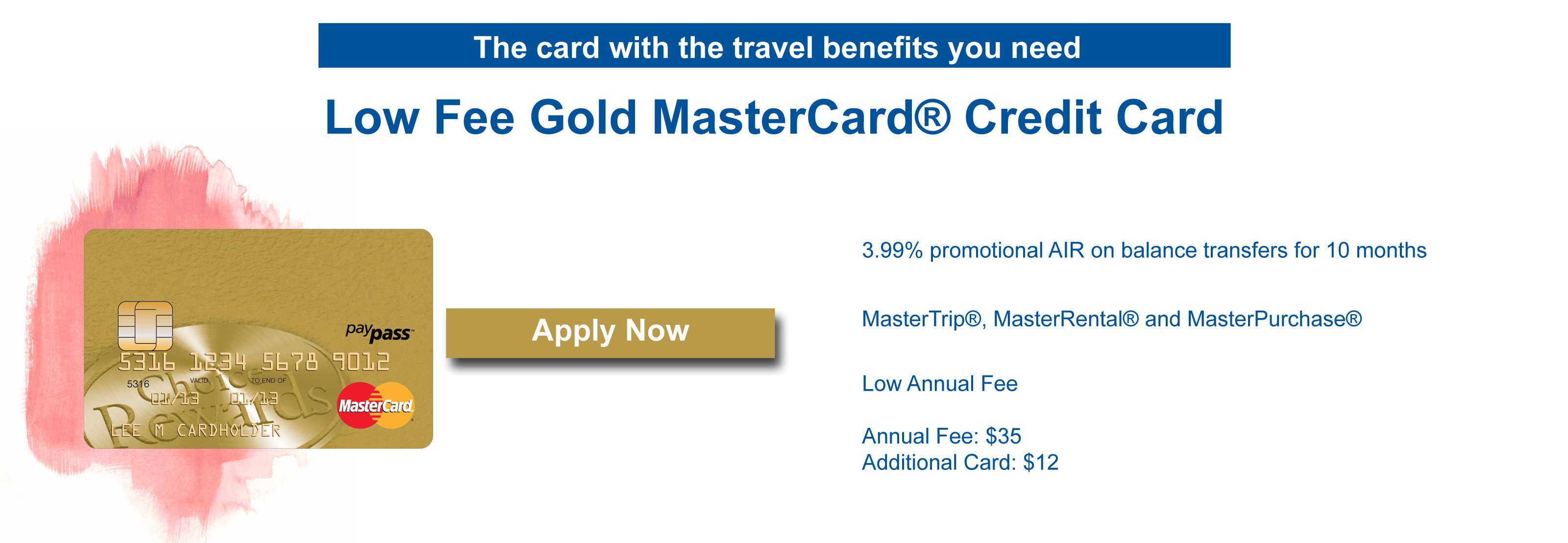 Gold low fee card