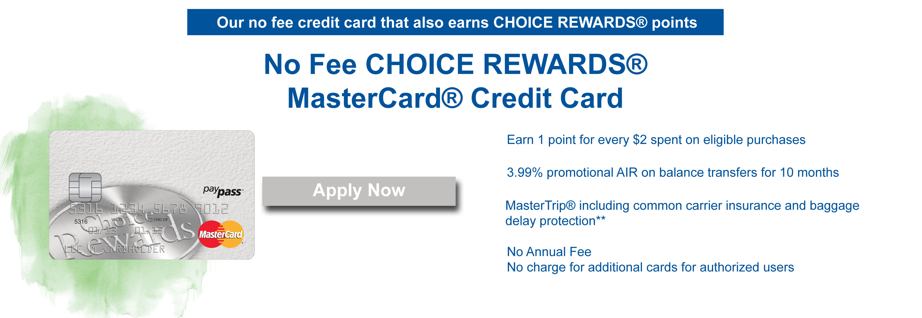 no fee choice rewards
